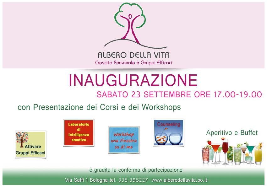 Inaugurazione Albero della Vita a Bologna 23 settembre 2017