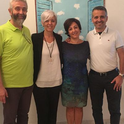 Giovanni Santandrea, Monica Mazza, Silvia Neri, Massimo Giorgini: Inaugurazione Albero della Vita Bologna