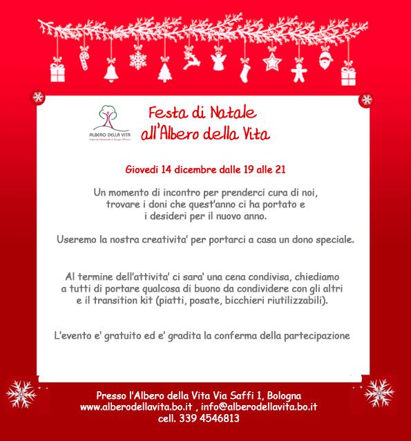 Festa di Natale all'Albero della Vita Bologna - desideri - doni - anno nuovo