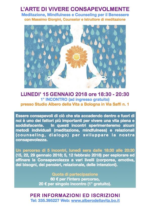 L'Arte di Vivere Consapevolmente Meditazione Mindfulness Counseling
