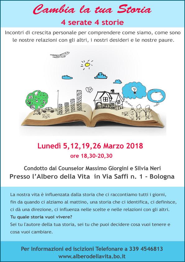 Cambia la tua storia Creescita Personale Counsleing Bologna