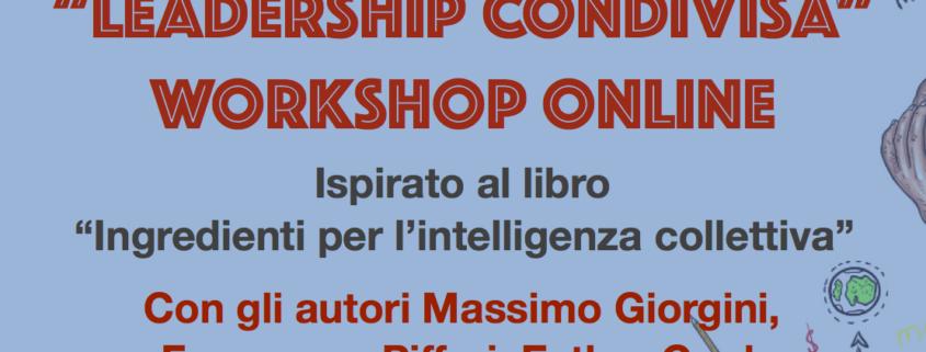 Workshop Leadership Condivisa - Ingredienti per l'intelligenza collettiva